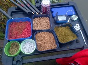Bait table for the day